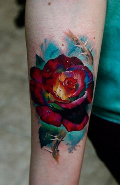 Тату роза педик